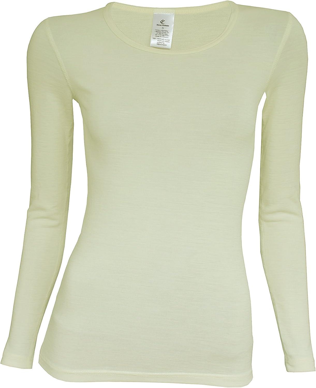 Utenos Merino Wool Ultra Soft Woman Longsleeve Shirt Base Layer Made in EU