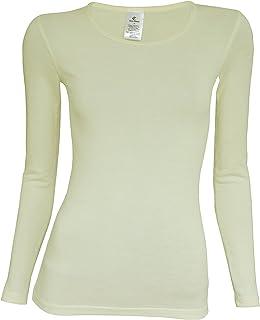 Huixin Inverno Donna Senza Cuciture Addensato Skinny in Velluto Termico Intimo Seamless Scollo A V Manica Lunga Splice Pizzo Termica Thermotop Shirt