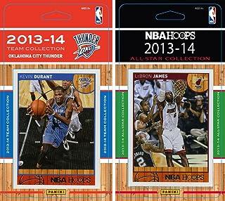 NBA Oklahoma City Thunder Licensed 2013-14 Hoops Team Set Plus 2013-24 Hoops All Star Card Set