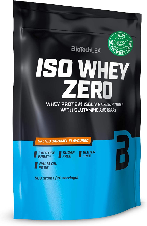 BioTechUSA Iso Whey ZERO, Lactose, Gluten, Sugar FREE, Whey Protein Isolate, 500 g, Vainilla