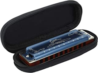 Spectrum SP-1100 Bl Key C 10 Hole Diatonic Blues Mouth Organ Harmonica with Case Top Grade Heavy Duty for Professional Player …