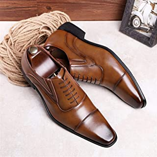 Business formal men's shoes lace up Oxford cloth Full dress