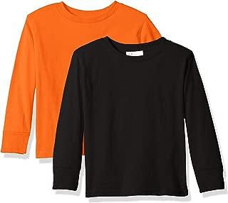 Unisex Everyday Long Sleeve Toddler T-Shirts Crew 2-Pack