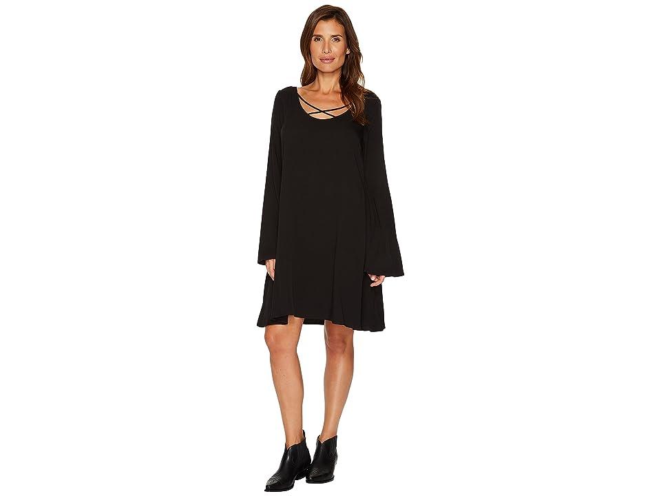 Stetson 1446 Rayon Twill Dress (Black) Women