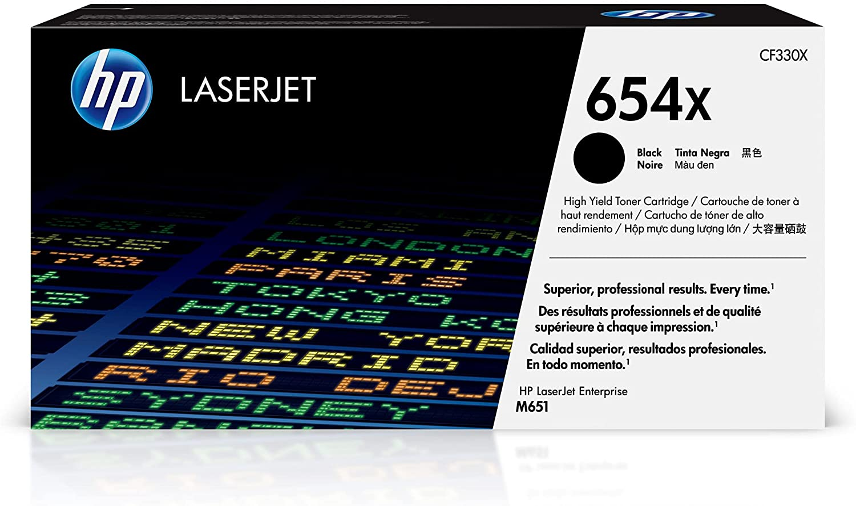 HP 654X   CF330X   Toner-Cartridge   Black   High Yield