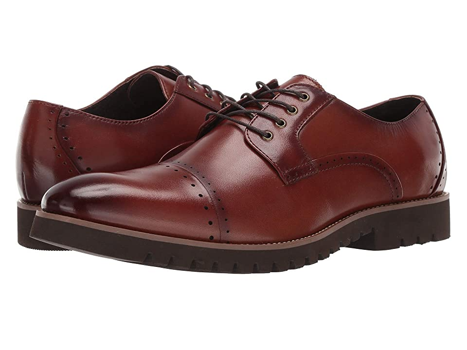 Stacy Adams Barcliff Cap Toe Lace Up Oxford (Cognac) Men
