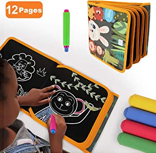 TUMAMA Portable Drawing Board for Travel,Dust-Free Chalk Doodle Board Book ,Early Educational Baby Toys Gift for Boys Girl...