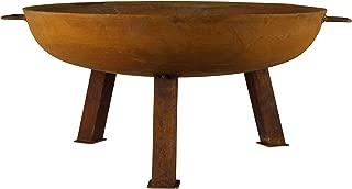 MagJo Rustic Cast Iron Wood-Burning Fire Pit Bowl, 30 Inch Diameter (Rust)