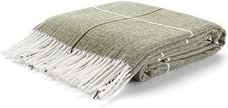 Arus Highlands Collection Tartan Plaid Design Throw Blanket Green Stripes 60
