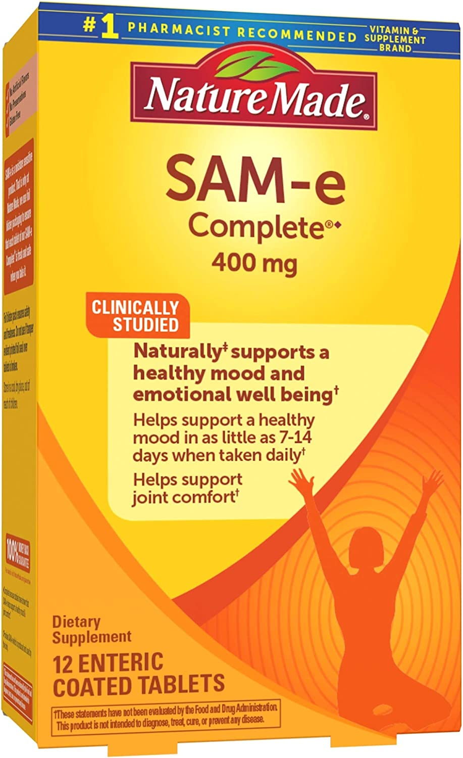 Nature Made Online limited Max 70% OFF product SAM-e Complete 400 mg Supporti Tablets 12 for Count