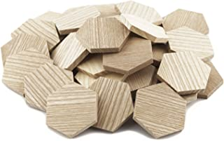 "2"" Wood Hexagon Cutout Shapes Unfinished Wood Mosaic Tile - 50 pcs"
