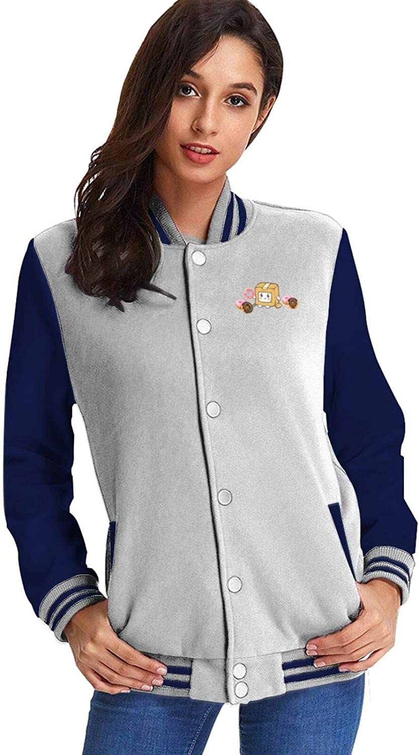 Lankybox Merch Boxy Women's Basebal Max 45% OFF Casual Plush Spring new work one after another Jacket