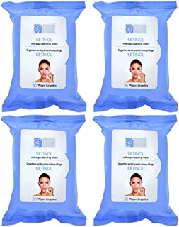 Retinol and Collagen Anti-aging Makeup Cleansing Wipes, 4-pk (120 Wipes) (Regular)