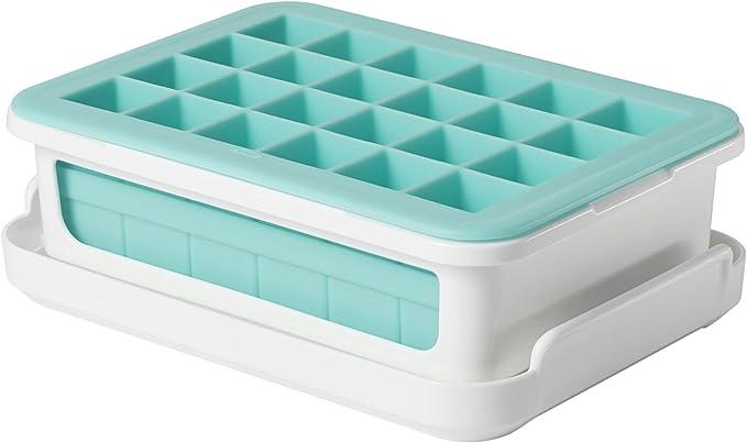 9910 opinioni per OXO Good Grips Vaschetta per ghiaccio da freezer con coperchio in silicone-
