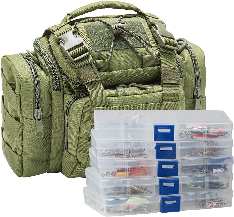 Dr.Fish Fishing Tackle Bag El Paso Mall Loaded Lures 60 Popular products Huge 5 Boxes