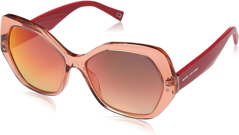 Marc Jacobs Women's Marc117s Round Sunglasses, orange, 56 mm