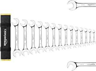AmazonBasics Angled Wrench Set - SAE, 14-Piece