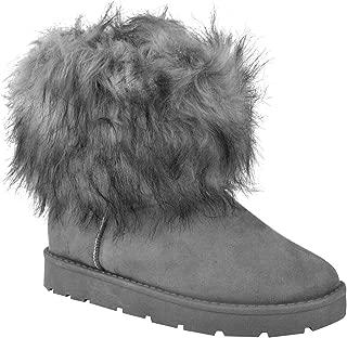 Da Donna con Lacci alla Caviglia in finta pelliccia inverno caldo Scarpe Stivali Nuovi Stivali lavoro Taglia