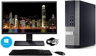Dell Optiplex 7010 SFF Computer Desktop PC (Intel Core i5-3470, 8GB Ram, 500GB, HDD, DVD-RW, WiFi Keyboard Mouse) 17in LCD Monitor Brands Vary, Windows 10 (Renewed)