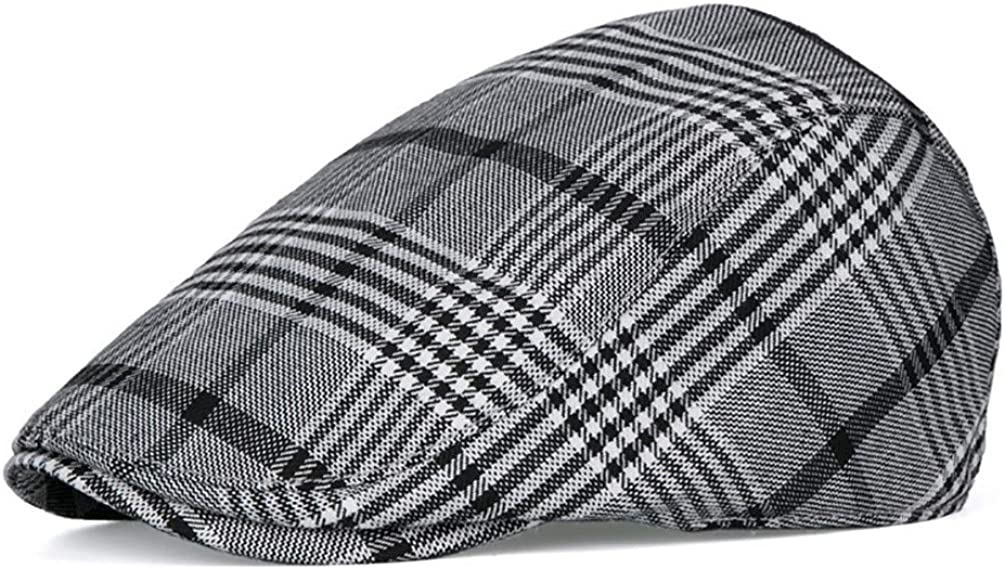 RICHTOER Newsboy Cap Beret Men Superior Women Flat Plaid Caps Bargain sale Cotton Hat