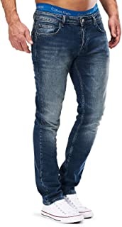 Merish 1507 Pantalon jean, slim, en denim, extensible, pour homme, coupe ajustée