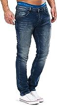 MERISH Jeans Herren Slim Fit Jeanshose Stretch Designer Hose Denim