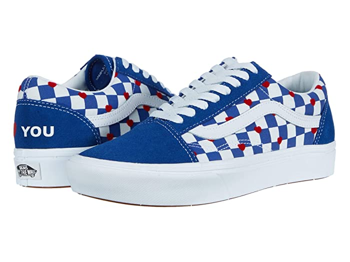 Vans   x Autism Awareness Sneaker Collection ( Heart/True Blue (Comfycush Old Skool x Autism Awareness)) Athletic Shoes