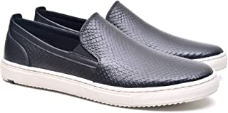 Slip On Casual em Couro Clippers, Fork, Masculino