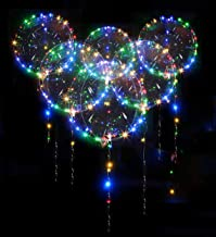 10 Pack Led Bobo Balloons, Zodight Transparent LED Light Up Balloons, Helium Glow Bubble Balloons with String Lights for Party Birthday Wedding Festival Decorations (18 Inch/Colorful)