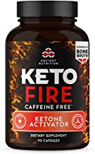 Ancient Nutrition KetoFIRE Caffeine Free Capsules, Keto Supplement with BHB Salts as Exogenous Ketones, and Electrolytes, ...