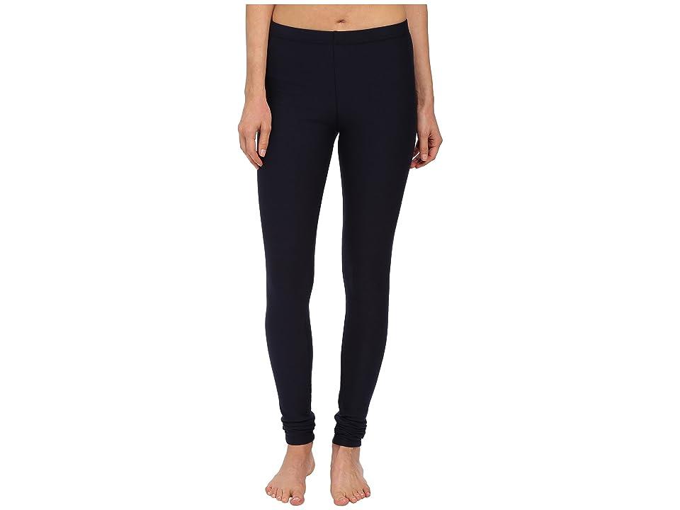 Plush Fleece-Lined Cotton Legging (Navy) Women's Casual Pants