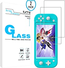 KATIN Nintendo Switch Lite Screen Protector - [2-Pack] Tempered Glass for Nintendo Switch Lite 2019 Bubble Free with Lifetime Replacement Warranty