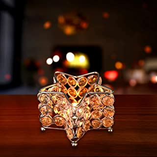 TDOC Star Shape Tealight Candle Holder for Home Decoration, Gift Items, Living Room Table Top Office Bedroom Dining Table ...