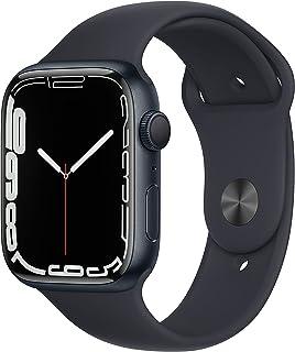 AppleWatch Series7 (GPS) • 45‐mm kast van inktblauw aluminium • Inktblauw sportbandje- Standaardmaat