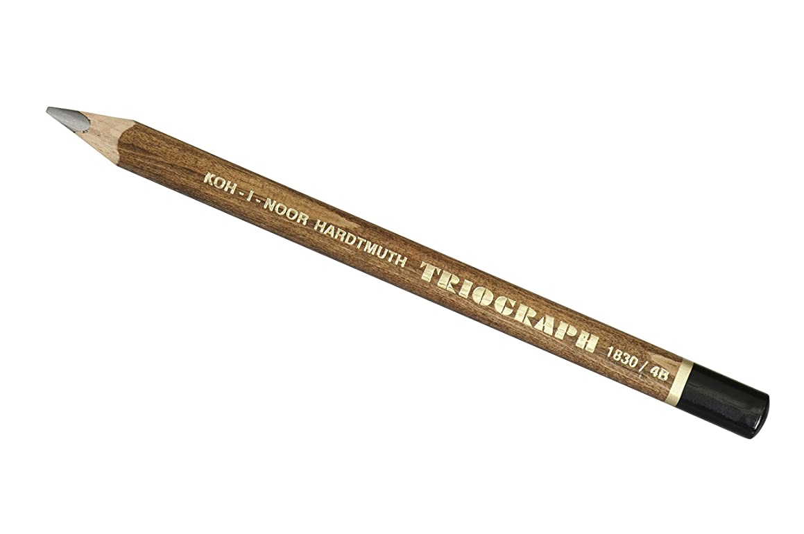 Koh-I-Noor Triograph Graphite Pencil, 4B Degree, Box of 6, Black (FA1830.4B)