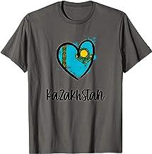 Kazakhstan Heart Art Flag Cool Asia Kazakh Kazakhstani Gift T-Shirt