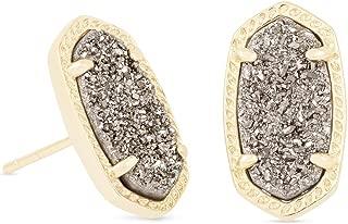 Kendra Scott Women's Ellie Earring Gold Gunmetal Drusy Earring