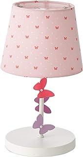 VERTBAUDET Lampe de chevet Papillons rose TU