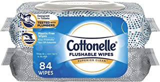 Cottonelle, FreshCare, Flushable Wet Wipes, 84 Total Wipes (42 Wipes Per Pack) - 2 Flip-Top Packs