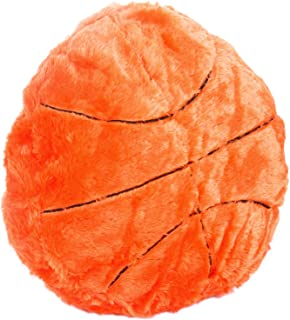CatchStar Basketball Pillow Fluffy Basketball Plush Pillow Durable Stuffed Basketball Throw Pillow Sofa Decorative Cushion Soft Sports Toy Gift Sports Theme Room Decoration for Kids Boy Baby Toddlers