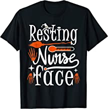Resting Nurse Face Shirt Halloween Witch Nurse T-shirt Gift T-Shirt
