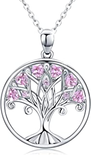 925 Sterling Silver Tree of Life Pendant Necklace Family Tree Jewelry Anniversary Gifts for Women Mom