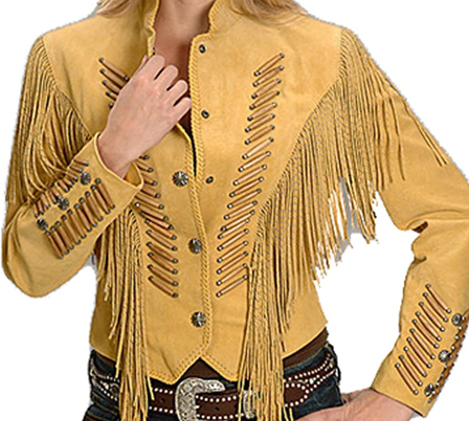 Classyak Western Style Real Suede Leather Jacket, High Quality, Xs5xl