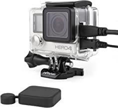 SOONSUN Side Open Skeleton Protective Housing Case for GoPro Hero 4 3+ 3 Silver Back Camera - Includes Standard Skeleton Backdoor, Skeleton BacPac Backdoor and Silicone Lens Cap