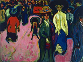 Berkin Arts Ernst Ludwig Kirchner Giclee Canvas Print Paintings Poster Reproduction(Street Dresden)