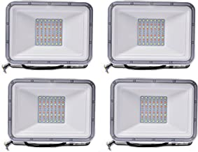 100W Floodlight with Remote Control Landscape Lighting with Memory Function 16 Colours 4 Modes, Outdoor RGB Security Light...