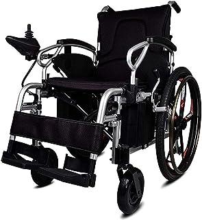 Sillas de ruedas eléctricas para adultos Ligera Deluxe Silla de ruedas eléctrica plegable de la energía de ruedas for personas mayores Potente silla de ruedas inteligente de motores de doble movilidad