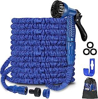 """100Ft Expandable Garden Hose Pipe,Flexible Expanding Magic Hose with 3/4"""", 1/2"""" Fittings,Garden Hose with 7 Function Spray..."""