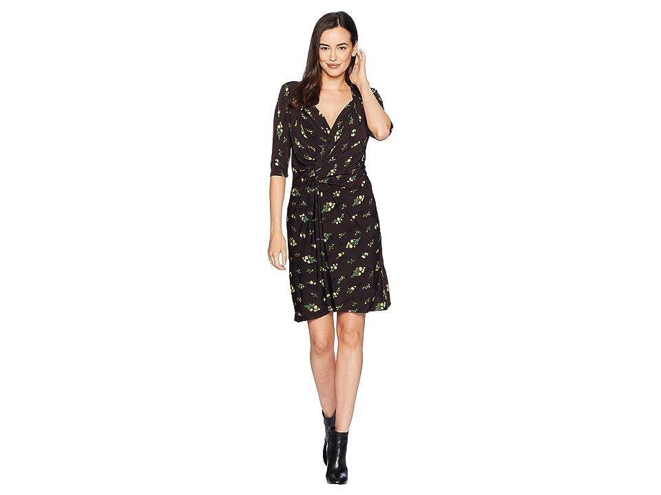 Ellen Tracy Twisted Front Dress (Rustice Bouquet Multi) Women