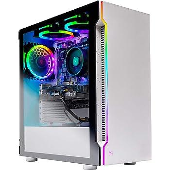 Skytech Archangel Gaming Computer PC Desktop – RYZEN 5 2600 6-Core 3.4 GHz, GTX 1660 6G, 500GB SSD, 16GB DDR4 3000MHz, RGB Fans, Windows 10 Home